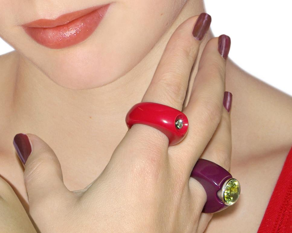 Ring Marbles Solitair und Ring Marbles Steel